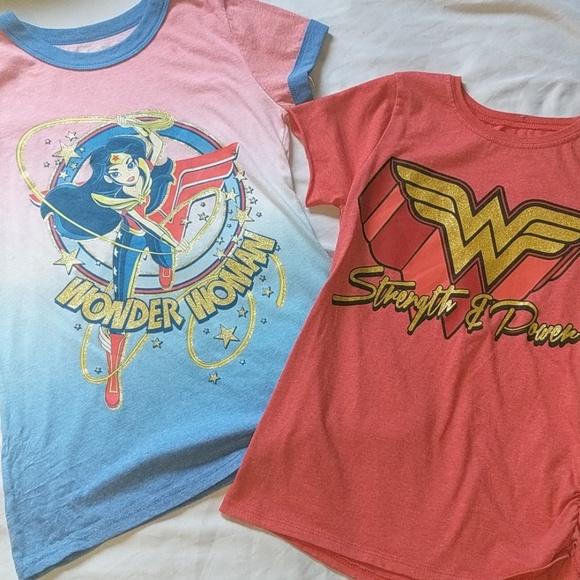 ae0fcb4b DC Comics Shirts & Tops | 2 Youth Girls Wonder Woman Tops Shirts 10 ...
